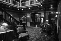Lobby of the Beaumont Hotel in Ouray, Colorado