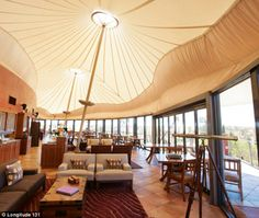 Relaxing: The 'luxury wilderness camp' in Australia's Red Centre is eco-sensitive and romantic