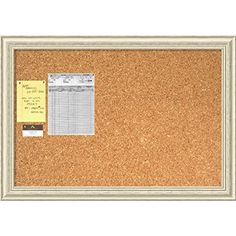 Framed Cork Board Large, Country White Wash Wood: Outer S... https://www.amazon.com/dp/B00PMVK5RK/ref=cm_sw_r_pi_dp_DEbCxbHZHSFTJ