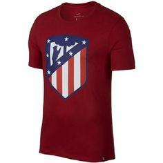 Nike Men's Atletico Madrid Crest Soccer T Shirt (Red) - L