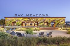 Living Wall at the Bay Meadows Welcome Center by Habitat Horticulture