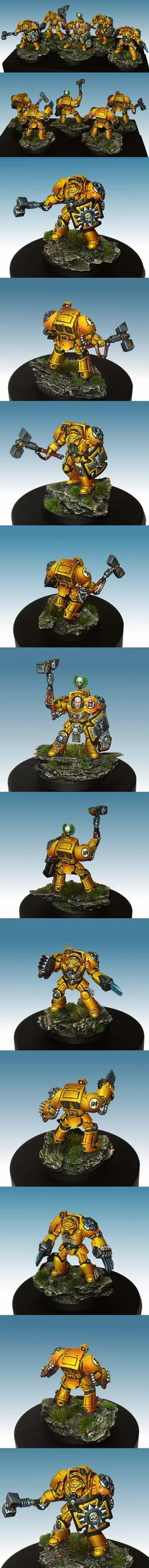 Imperial Fists Terminator Assault squad