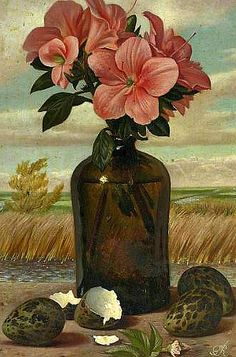 Gerard Victor Alphons Röling, Flowers in a Vase with Eggs, 20th century