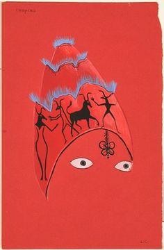 Leonora Carrington - Chapeau Rouge, c.1955