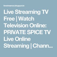 Adult channel stream spice