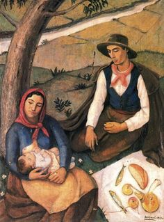 Peasant Family, by Antonio Bisquert (1906-1990)