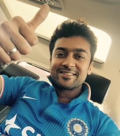 Suriya bleeds blue; cheers for India in World Cup semifinal against Australia! #Suriya