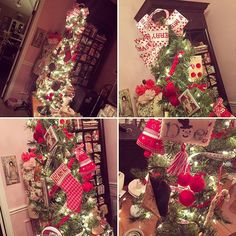 Every sewing room needs a stitching tree!  #stitching tree #sewing room #christmastree