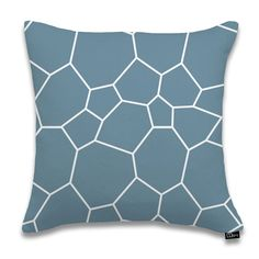 """17""""x17"""" Poligoni Pillow, Dusk by DQtrs @ Luxe Yard  //  Great, playful geometry and cool colors. Yes."""