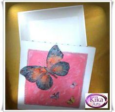 Caixa borboleta em mdf