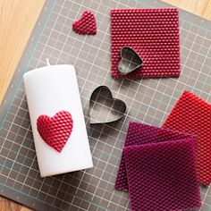 heart candle diy
