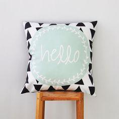 Mint Throw Pillow, Geometric Decorative Pillow, Cushion Cover, Throw Pillow, Modern Nursery Pillow x – 2019 - Pillow Diy Cute Pillows, Kids Pillows, Throw Pillows, Dream Bedroom, Girls Bedroom, Bedroom Decor, Geometric Pillow, My New Room, Decoration