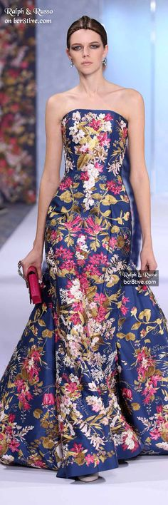 Ralph & Russo Fall 2016 Haute Couture Couture Fashion, Runway Fashion, High Fashion, Fashion Outfits, Beautiful Gowns, Beautiful Outfits, Brocade Dresses, Ralph And Russo, 3d Laser