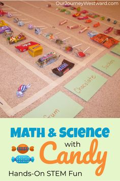 Hands-On Candy Math and Science Lessons Make Learning Fun - Our Journey Westward Science For Toddlers, Preschool Science Activities, Science Lessons, Science Projects, Counting Activities, Science Ideas, Science Inquiry, Plant Science, Best Candy