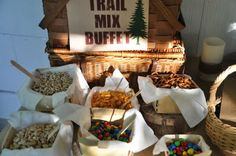Campfire party - trailmix buffet idea