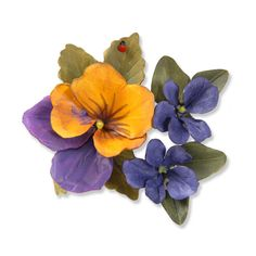 Sizzix - Susan's Garden Collection - Thinlits Die - Die Cutting Template - Flower, Pansy Violet at Scrapbook.com