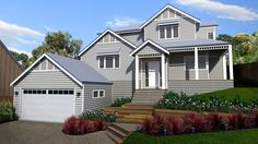 Panorama House Picture of  and two storey design traditional design sloping site design floor plans 4 bedroom Floor Plan 4 Bedroom, Storybook Homes, Traditional Design, Traditional House, Site Design, Building A House, House Plans, Garage Doors, House Plans Design