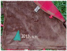 The Mini Mountail Man Minkie/Fleece Taggie Blanket with Crinkle Corner. $15.00, via Etsy.