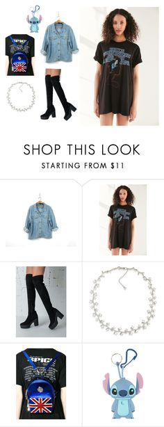 """rawdy ranger"" by aesthicari on Polyvore featuring Urban Outfitters, Carolee, Shellys and Disney"