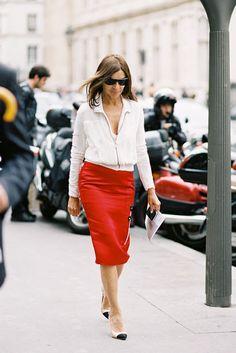 Pin by Svetlana Malinina on How to Wear a Red Skirt | Pinterest ...