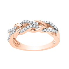 Fred Meyer Jewelers | 1/5 ct. tw. Diamond Infinity Ring in rose gold. $330