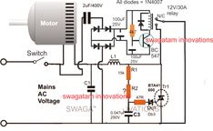 Adding a Soft Start to Water Pump Motors - Reducing Relay Burning Problems Diy Electronics, Electronics Projects, Simple Electronic Circuits, Water Pump Motor, Ac Circuit, Solar Power Inverter, Electronic Circuit Projects, Electrical Engineering, Electric Motor