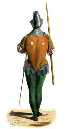 """French mercenary - costume from 14th century"""