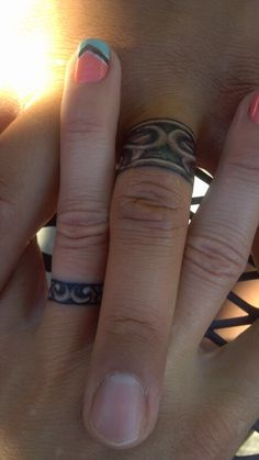 Final wedding band tattoo pic