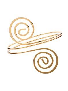 Gold Plated Vortex Model Wrap Bangle