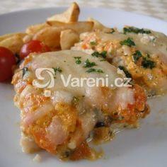 Zapečené rybí filé se zeleninou recept - Vareni.cz