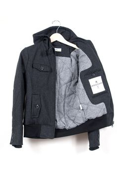 Librarian Charcoal jacket from Bridge & Burn
