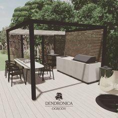 Alternatywa dla murowanych pieców grillowych - kuchnia zewnętrzna od @cana.concept. Pełna custom-izacja pozwala stworzyć niepowtarzalny obiekt który oprócz podstawowych swoich funkcji będzie ładnie podkreślał nowoczesny charakter miejsca. . #kuchniazewnętrzna #outdoorkitchen #canaconcept #pergola #nesling #ruchomedeseczki #taras #deck #moderngarden #contemporarygarden #landscaping #rla #pin #sketchup #projektanogrodów #gardendesigner Outdoor Furniture Sets, Outdoor Decor, Patio, Instagram, Design, Home Decor, Decoration Home, Room Decor