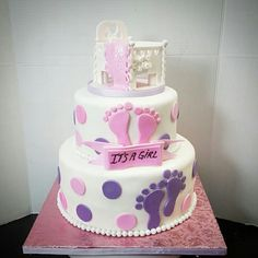 Crib Baby shower cake
