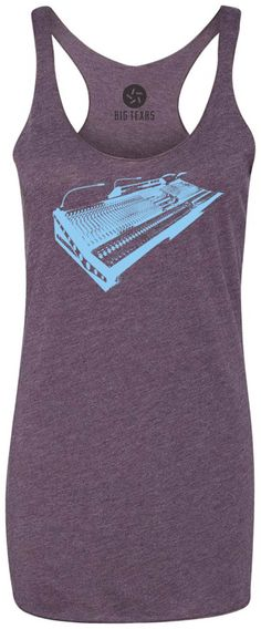Vintage Mixer (Blue) Tri-Blend Racerback Tank-Top