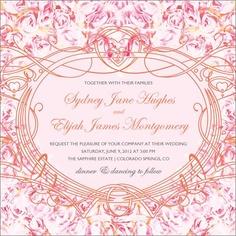 Rose Heart Flat Square invitation