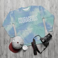 Courageous Print Tie-Dye Unisex Heavy Blend Crewneck   Etsy Casual Sweaters, Winter Sweaters, Sweater Weather, Tie Dye Sweatshirt, Crew Neck Sweatshirt, Clothes With Quotes, Plus Size Womens Clothing, Clothes For Women, Boyfriend Sweater