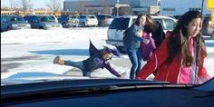 If you're a dad waiting to pick up your child from school and happen to observe student after student slipping on the same patch of ice in the midst of wintry weather, it's tough to fault you for finding some schadenfreude in the situation. Which...