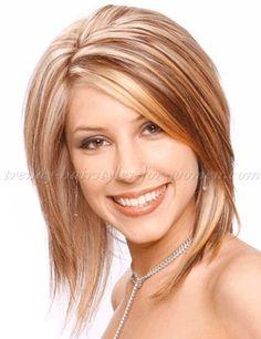 medium+length+hairstyles+for+straight+hair+-+félhosszú+melírozott+frizura