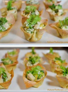 12 Amazing Super Bowl Recipes (Chicken Salad Wonton Cups)