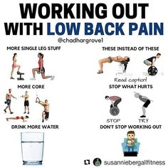 #Repost @susanniebergallfitness (@get_repost)  My pal @chadhargrove1 brings up something super important and super helpful:  training with low back pain.  The bottom line?  You can train around anything.  Check it out:  @Regrann from @chadhargrove1 - Is that low back aching? - Need some ideas on how to keep training around it? - The thing is getting away from exercise might be the worst thing you can do. You just need to be smart. - Stopping what hurts  or makes it hurt worse  is a start…