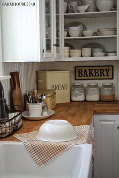 Simple Country Kitchen - this post has some great cottage decorating ideas.