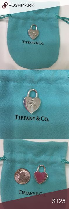 BRAND NEW Tiffany & Co Heart Lock Charm (w/box) ✨This BRAND NEW with pouch and box Tiffany & Co. heart charm is the absolutely perfect gift!  It has NEVER BEEN WORN, no scratches or marks of any kind. It is sterling silver and comes in its pouch and complete Tiffany & Co. box. Add it to a chain or bracelet right away and the blank back allows for you to one day engrave it with a special name/sentiment. You will love it! ❤️️ Tiffany & Co. Jewelry