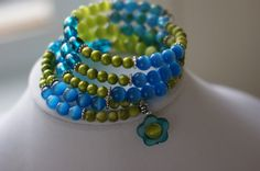 """Bracelet turquoise et lime"", ""bracelet spiral"" : Bracelet par bijoux-libellule Sister Gifts, Best Friend Gifts, Mother Gifts, Gifts For Friends, Gifts For Her, Mothers, Teal Necklace, Bracelet Turquoise, Unique Gifts"