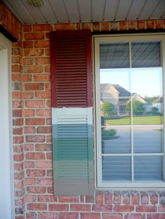 exterior+shutter+colors+for+a+red+brick+house   ... the color from the dark red that was on them when we moved here