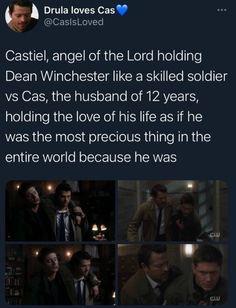 Supernatural Ships, Supernatural Destiel, Spn Memes, Stupid Memes, Castiel, Funny True Quotes, Cockles, Winchester Boys, Meaning Of Life