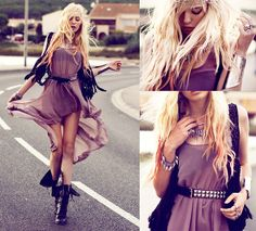 Edgy style. Love every part of this, especially her little crown of thorns:)