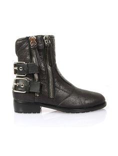Oxygen | Giuseppe Zanotti Cobain Leather Buckle Boots #GiuseppeZanotti #shoes #leather #black #boots #style #fashion #shopping