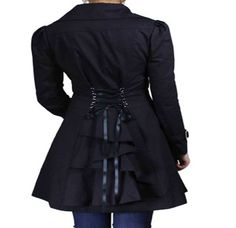 Victorian inspired plus size lace-up ruffled tapered jacket from sexyplus.com