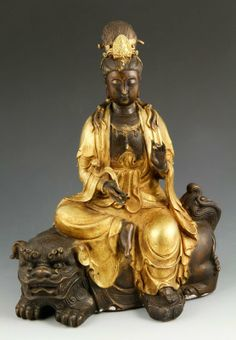 GUANYIN | Chinese Bronze Seated Guanyin