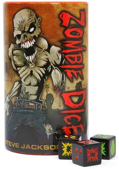 Do you only have about 15-20 minutes but still want to play a fun game? Then Zombie dice is the game for you!